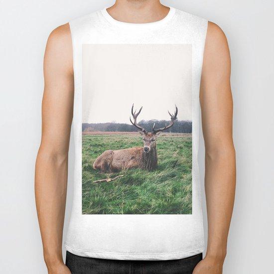 Deer #landscape Biker Tank