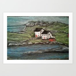 Newfoundland view Art Print