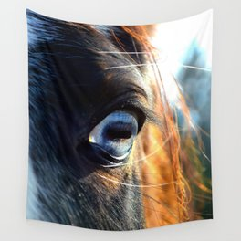 Horse Blue Watch Eye Wall Tapestry