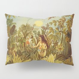 "Henri Rousseau "" Eve in the Garden of Eden"", 1906-1910 Pillow Sham"