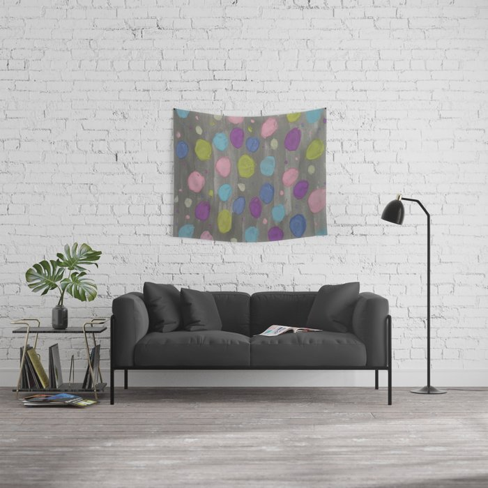 Pastel Bubbles Abstract Wall Tapestry