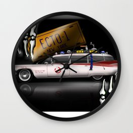 ECTO 1  Car - Cool Ghostbuster Car Wall Clock
