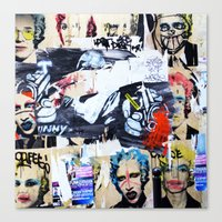 celebrity Canvas Prints featuring Celebrity by Paper Possible