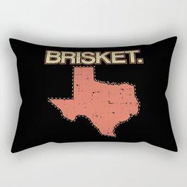 Brisket Texas BBQ Barbecue Rubs State Pride Gift Rectangular Pillow