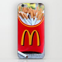 fries iPhone & iPod Skins featuring Smoked Fries by Stephanie Nakagawa