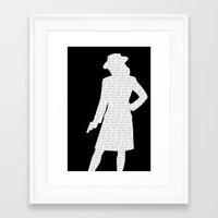 agent carter Framed Art Prints featuring Agent Carter by Kaitlin Andesign