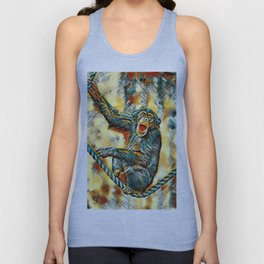 AnimalArt_Chimpanzee_20170901_by_JAMColorsSpecial Unisex Tank Top