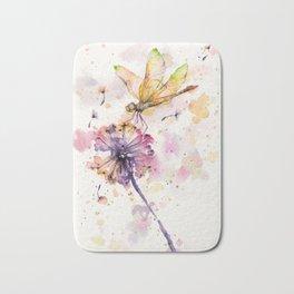 Dragonfly & Dandelion Dance Bath Mat