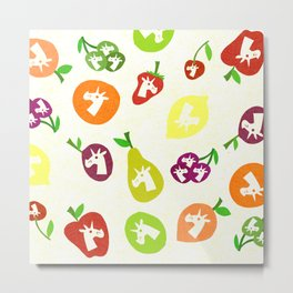 Fruity Unicorns Metal Print