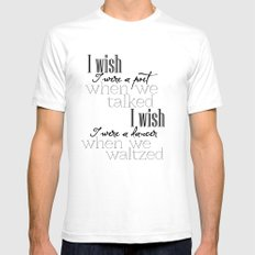 Simple Words Mens Fitted Tee White SMALL