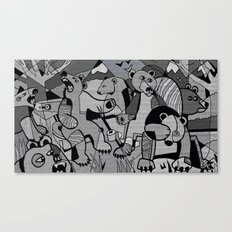 Do Bears Shit in the Woods? Canvas Print