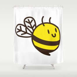 Cuddly Bee Shower Curtain