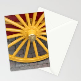 Red and Yellow Plain and Simple Stationery Cards