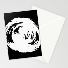 Whorl Black and White Stationery Cards