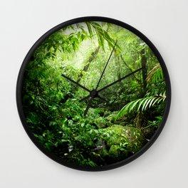 Warm Glow Rainforest Creek Wall Clock