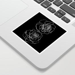 Black Roses Pen & Ink Line Sticker