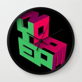 Yep - Nope Wall Clock