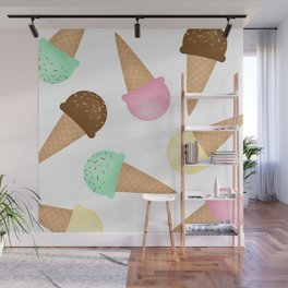 Ice Cream Pattern Wall Mural