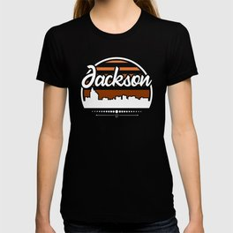 Retro Jackson Mississippi Sunset Skyline T-shirt
