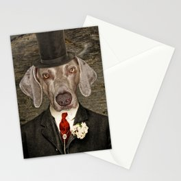 Weimaraner -Monsieur Rigg Stationery Cards