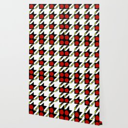HOUNDSTOOTH PATTERN WITH POLKA DOT EFFECT Wallpaper