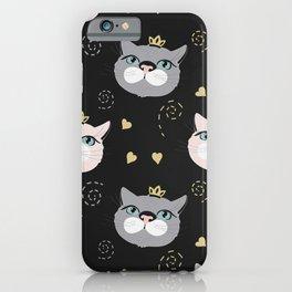 Cute cat princess face. iPhone Case
