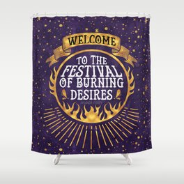 Daughter of the Burning City - Amanda Foody - Purple Shower Curtain