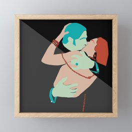 blood and sand Framed Mini Art Print