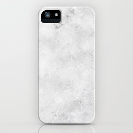 GRAY MARBLE Texture iPhone Case