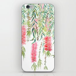 bottle brush tree flower iPhone Skin