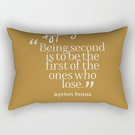 Ayrton Senna Quote Rectangular Pillow