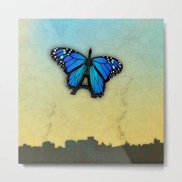 Paris' butterfly Metal Print