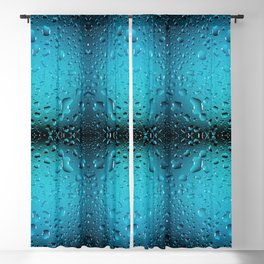 Stylish Cool Blue water drops Blackout Curtain