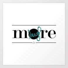 Laugh More Art Print
