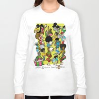 rio Long Sleeve T-shirts featuring CARNAVAL RIO by Valter Brum