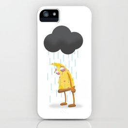 Hamlet, the sad pizza slice. iPhone Case