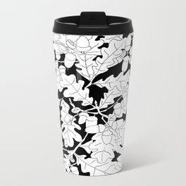 Composition of Oak Leaves and Acorns Metal Travel Mug