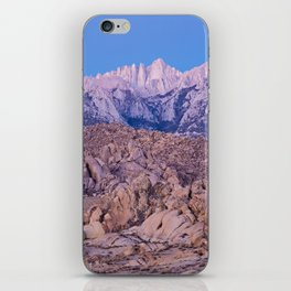 Mount Whitney /view from Movie Flats, Lone Pine, CA. iPhone Skin
