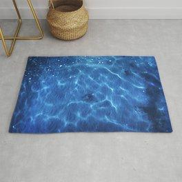 descente - Blue Ocean Water Abstract - Modern Home Decor Rug