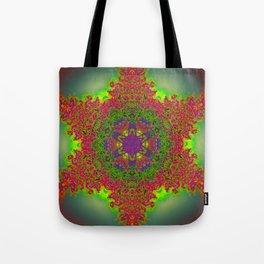 Treelike Flames Kaleidoscope Tote Bag