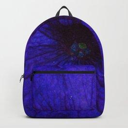 Blue Petunia Flower Macro Watercolor Backpack