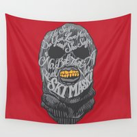 ski Wall Tapestries featuring A Real Nice Ski Mask - Dumb and Dumber by Panda McFan