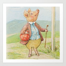 Pigling Bland by Beatrix Potter Art Print