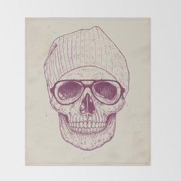 Cool skull Throw Blanket