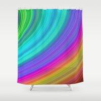 rainbow Shower Curtains featuring Rainbow by David Zydd