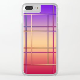 Geometric patchwork Clear iPhone Case