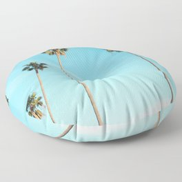 Palm Tree Sunshine Floor Pillow