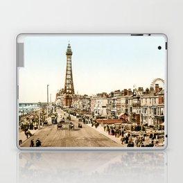 The Promenade at Blackpool, Lancashire, England 1898 Laptop & iPad Skin