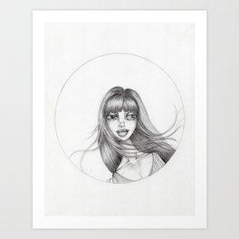 JennyMannoArt Graphite Drawing/Abbey Art Print