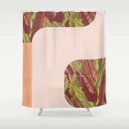 Mid-Century Tropical Mood #society6 #tropical Shower Curtain